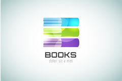 Book template logo icon. Back to school. Education Stock Photos