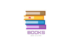 Book template logo icon. Back to school. Education Royalty Free Stock Photography