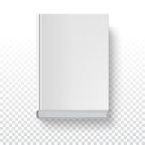 Book template, top view. White book template on transparent background with accurate shadow, top view. Grayscale mock-up for your presentation or design, vector Stock Photo