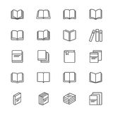 Book thin icons Royalty Free Stock Photography