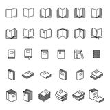 Book thin line icons Stock Photography