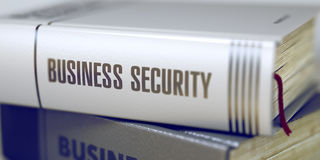 Book Title of Business Security. 3D. Stock Photography