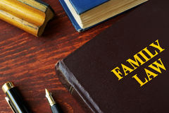 Book with title family law. Royalty Free Stock Photo