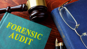 Book with title Forensic audit. Royalty Free Stock Image
