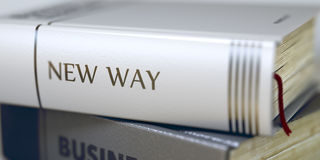 Book Title of New Way. 3d. Stock Photography