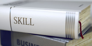 Book Title of Skill. 3D. Royalty Free Stock Photography