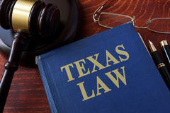 Book with title Texas law. royalty free stock photography