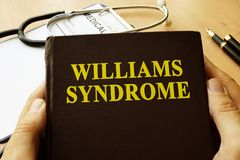 Book with title Williams Syndrome. stock photos