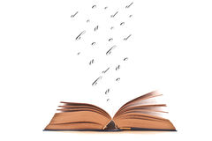 Book to read. Open book to read on a white background Stock Photo