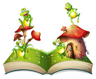 Book of toads and toadstool Stock Images
