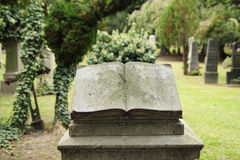 Book tombstone Stock Photography