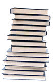 Book tower. A over white back ground stock images