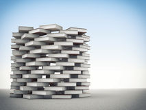 Book tower. 3d image of books tower Stock Images