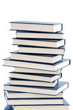 Book tower. A photo of a book tower a over white background stock photography