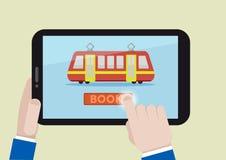 Book train ticket Stock Photo