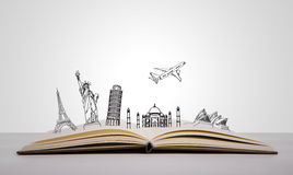 Book of travel Stock Photography