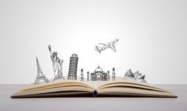 Book of travel. (Australia,France,I taly,New York,India Stock Photography