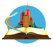 Book travel city Royalty Free Stock Photos