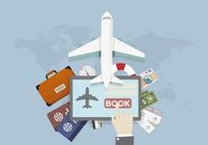 Book travel Flight Stock Image
