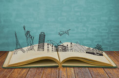 Book of travel Stock Photos