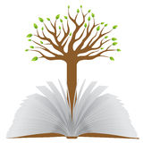 Book with tree Royalty Free Stock Photography