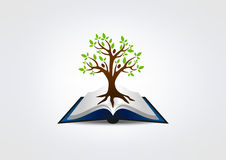 Book tree logo, Education concept design Stock Photo