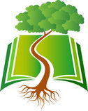 Book tree logo Royalty Free Stock Photos