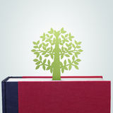 Book with tree paper cut Royalty Free Stock Image