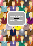 Book a true gentleman. Background for cover of book royalty free illustration