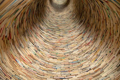 Book Tunnel In Prague Library Royalty Free Stock Photo