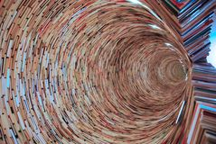 Book tunnel. Made ​​only from thousands of books Stock Images