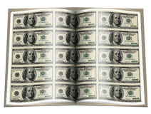 Book with us dollar notes on Stock Images