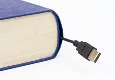 Book with USB connection Royalty Free Stock Photography