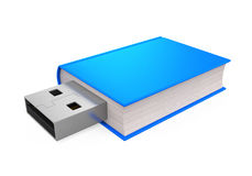 Book with USB Plug Stock Photography