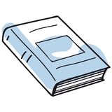 Book vector. A sketch of a closed book + vector EPS file Stock Photo