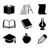 Book vector icon set. Stock Photo