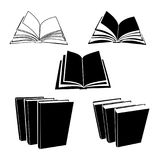 Book vector icons - open and closed pages. Book vector icons - open and closed  pages Stock Photography