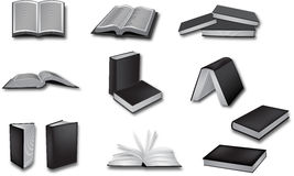 Book vector illustrations Royalty Free Stock Photography
