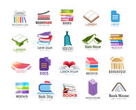 Book vector logo template set. Back to school Royalty Free Stock Image