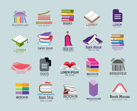 Book vector logo template set Royalty Free Stock Photo
