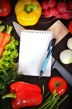 Book with vegetables Royalty Free Stock Photography