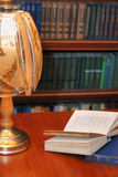 Book of verses with  reading - lamp Stock Photography