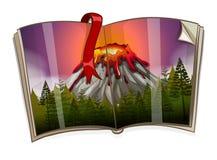 Book with volcano scene Royalty Free Stock Photo