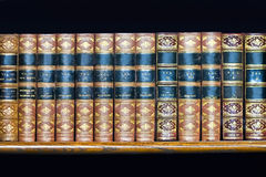 Book volumes Stock Image
