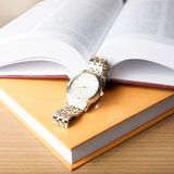 Book with watch Royalty Free Stock Photo
