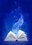 Book of water magic Stock Images
