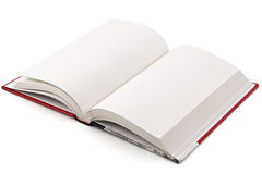 Book on White. Open book isolated over a white background. Pages are blank stock photography