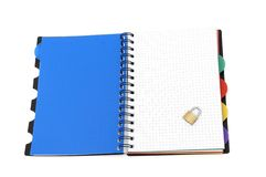 Book on white background Royalty Free Stock Image