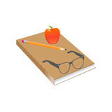 Book on a white background Royalty Free Stock Photo