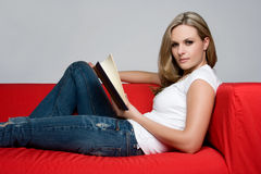 Book Woman Royalty Free Stock Photo